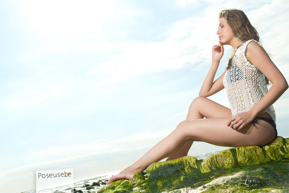 Photographe shooting glamour plage