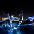 Traces de lumière hors studio photo à Bruxelles